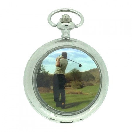 New Golfing Pocket Watch with Chain by WESTIME