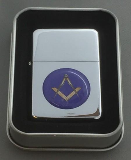 Collectable Masonic Silver Flip top Petrol Lighter