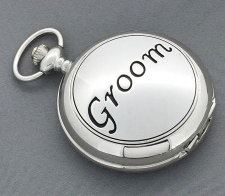 Groom Mechanical Wind Up Pocket Watch