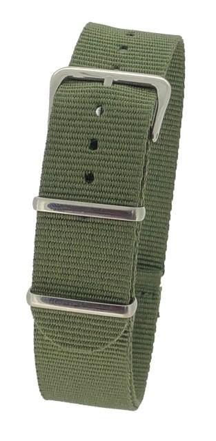 Green Nylon 1pc Military Army Watch Strap 18mm 20mm 22mm 24mm