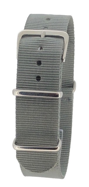 Grey Nylon 1pc Military Army Watch Strap 18mm 20mm 22mm 24mm
