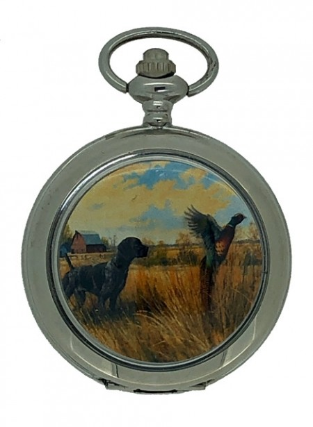 New Pheasant Hunting Pocket Watch with Chain by WESTIME