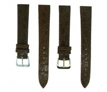 Mid Brown TA Croc Grain Leather Watch Strap 10mm to 20mm With FREE Fitting Pins