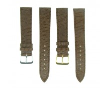 Mid Brown Lizard Grain Leather Watch Strap 10mm to 20mm With FREE Fitting Pins