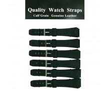 6 x Wholesale Black Casio Type Sports Resin Watch Strap 18mm to 22mm
