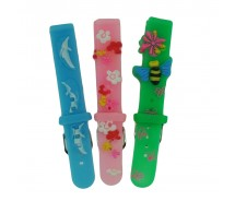 6 x Wholesale Job Lot Childrens TA 14mm Silicone 3D Colour Watch Strap