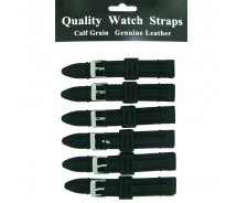 6 x Wholesale Black Divers Rubber Silicone Waterproof Watch Strap 18/20/22/24/26
