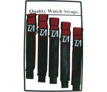 5 x Wholesale Job Lot Mens TA 18mm Burgundy Nylon Watch Strap