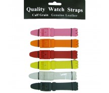 6 x Wholesale Job Lot Swatch Resin 17mm Colour Watch Strap