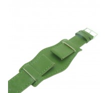 Genuine Leather Green Colour Military Cuff Watch Strap 18mm 20mm 22mm and 24mm