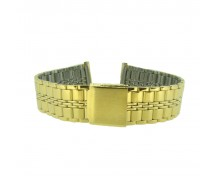 20mm Stainless Steel Gilt Metal Bracelet Watch Strap