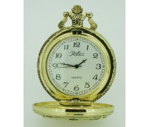 New Reflex Gilt Dad Pocket Watch and Chain Boxed