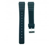 16mm Black Casio Type Sports Resin Watch Strap