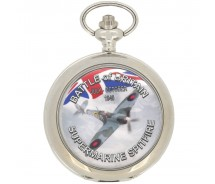 New Memorial Battle of Britain Spitfire Pocket Watch with Chain by WESTIME