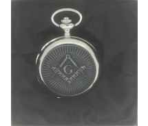 New BOXX Silver Vintage Masonic Pocket Watch and Chain Boxed
