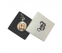 New BOXX Silver Vintage Masonic Pocket Watch And Chain