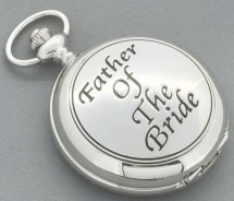 Father Of The Bride Mechanical Wind Up Pocket Watch