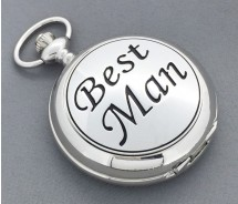 Best Man Mechanical Wind Up Pocket Watch