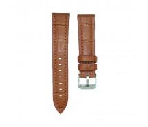 Sturdy High Quality Leather Brown Croc Grain Watch Strap 18/20/22/24mm