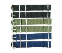 6 x Wholesale Job Lot  Nylon 1pc Military Army Watch Strap 18mm 20mm 22mm 24mm