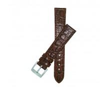 New Luxury Brown Crocodile Grain Watch Strap 18mm 20mm 22mm