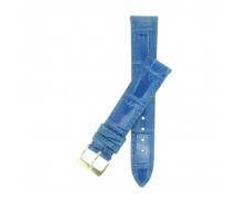 High Quality Blue Padded Croc Grain Watch Strap 14mm 18mm 20mm
