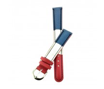 Red White and Blue 14mm Faux Leather Watch Strap.