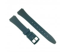 Lady  Black Casio Type 14mm Sports Resin Watch Strap