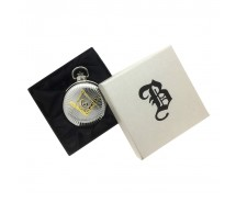 New BOXX Jumbo Two Tone Full Hunter Masonic Pocket Watch and Chain Boxed