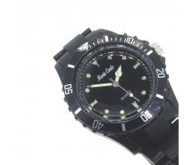 Black Plastic Lightweight Quartz Sports Watch by Monte Carlo