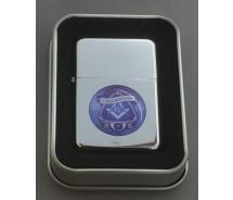 Collectable Masonic Freemason Silver Flip top Petrol Lighter