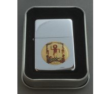 Collectable Masonic Stick Man Silver Flip top Petrol Lighter