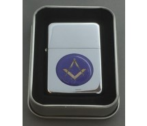 Collectable Masonic Silver Flip top Petrol Lighter