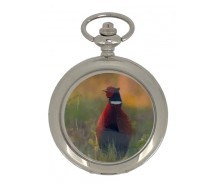 New Pheasant Silver Case Pocket Watch And Chain by WESTIME