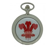 New Prince Of Wales Feather Silver Case Pocket Watch And Chain by WESTIME