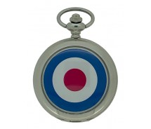 New RAF Target Silver Tone Quartz Pocket Watch And Chain by WESTIME